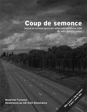 Coup de semonce, Journal de la CLAC-Montréal, hiver 2010