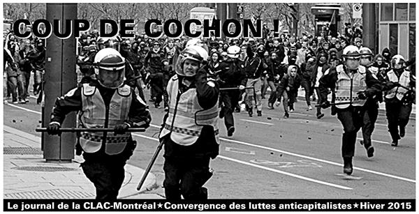 Coup de cochon, Journal de la CLAC-Montréal, hvier 2015