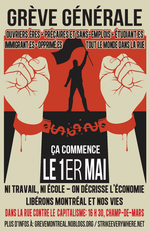 1er mai 2012, Grève générale
