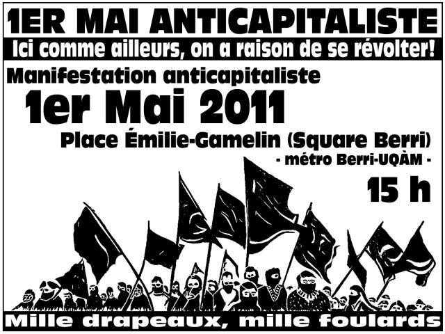1er mai 2011, Ici comme Ailleurs, on a raison de se révolter!
