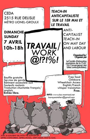 TRAVAIL?!$@#: Teach-in anticapitaliste sur le thème du travail et du 1er mai